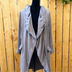 Urban Outfitters Silence + Noise Drape Hood Coat